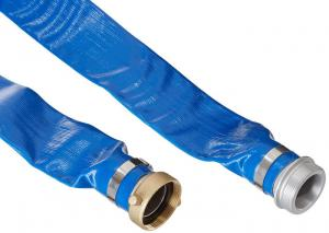 Quality Durable PVC Layflat Hose / Pipe UV Resistant Flexible With Coupling Fittings for sale