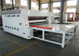 China Semi Automatic Flexo Printer Slotter Machine Chain Feeding Mode 5.5 Kw Power on sale