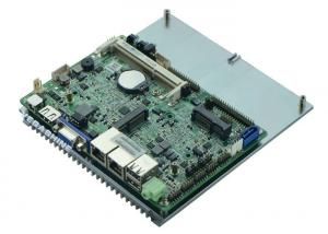 China Atom Dual Core N2800 CPU 3.5 inch 6 COM  Embedded Motherboard Support VGA / HDMI / LVDS on sale