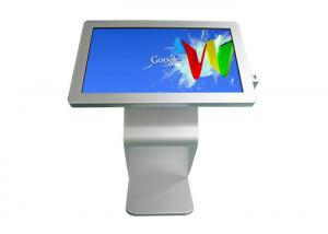 China Sliver HD 55 Inch LCD Advertising Kiosk Video Signage Displays Wifi 4G Rj45 Network on sale