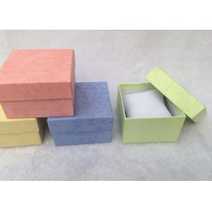 China Cardboard Packing Gift BoxesSoft Cotton Inside For Protect Jewelry on sale