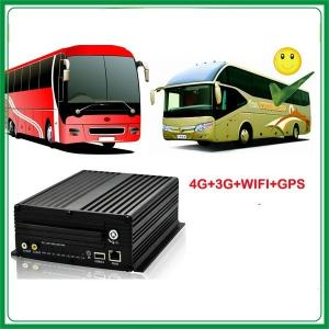China 4ch H.264 vehicle safeguard dvr  high resolution with free CMS software gps 3g wifi on sale