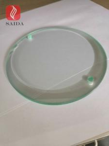 China custom 10mm thickness beveled edges with holes drilling heat tempered glass round shape on sale