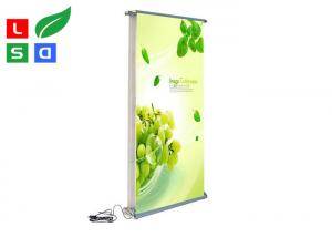 China Electric Motorised Roll Up Banner Stand Light Weight Scrolling Display For Exhibition on sale