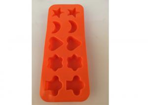 Quality Cholocate Silicone Ice Trays ,  Non Spill Ice Cube Trays With Different Shapes for sale