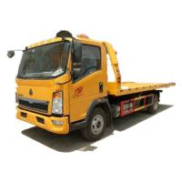 HOWO 4x2 Flat Bed Wrecker Towing Truck Euro 2 / Recovery Vehicle