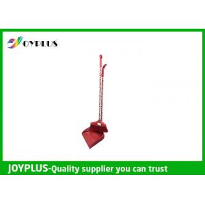 Quality PP / PET Broom And Dustpan Set With Long Handle Various Printed Pattern for sale