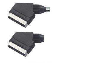 China Computer Cable Black Male Female Cable Connector , 21 Pin Scart Connector on sale