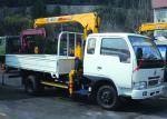 Le camion télescopique de boom a monté la grue 2.1T pour des matériaux de transport de sécurité