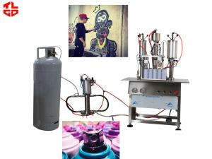 China High Capacity Aerosol Spray Paint Can Filling Machine Semi Automatic on sale
