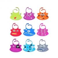waterproof silicone baby bibs with snaps adjustable ,silicone kid bib