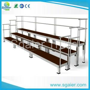 China Sgaier Hot sell school/church portable Aluminum Folding Choir  riser with handrail on sale