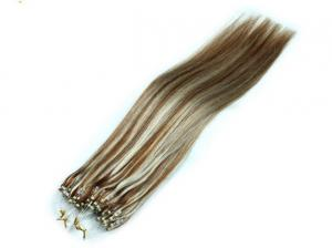 China Double Drawn Pre Bonded Hair Extensions Micro Rings Full Ending 28 Inch Hair Extension on sale