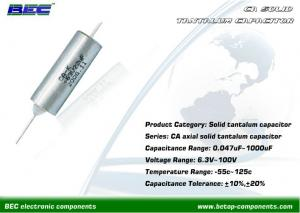 China CA Solid Axial Tantalum Capacitor 10μF 35V for Instruments Meters, Electronic Equipment on sale