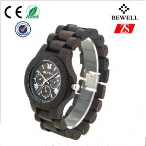 China Black Sandalwood / Wooden Wrist Watch For Men With Customized Logo on sale
