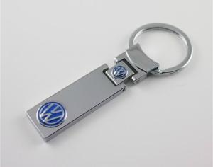 China Epoxy painted Volkswagen auto logo key tag, Jewelry metal Volkswagen car logo key holder, on sale