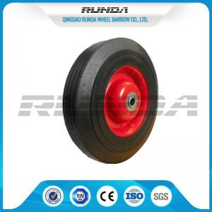 China Farm Wagon Solid Rubber Wheels , Metal Rim Solid Rubber Tires For Wheelbarrows on sale