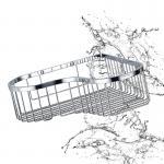Da prateleira de canto acessória da cesta do banheiro a instalação fácil de aço inoxidável