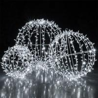 China Christmas large outdoor led sphere waterproof ball light ,outdoor hanging light balls on sale