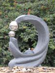 Fontes exteriores de pedra do molde, fontes contemporâneas do jardim com cor de mármore