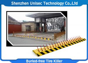 China Electronic Hydraulic Road Barrier , One Way Spike Barrier Security Equipment on sale