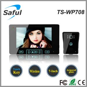 China Saful TS-WP708 High-strength tempering glass Wireless Video Door Phone on sale