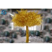 China Gold Artificial Banyan Tree Big Trunk , Ornamental Ficus Tree Plastic Material on sale