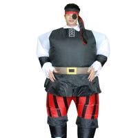 Mens Fan Pirate Adult Inflatable Costumes Suit Caribbean Blow Up Funny Fancy Dress
