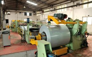 China 6mm X 1600mm Steel Coil Slitting Line Steel Cutting Machine 40m / Min on sale