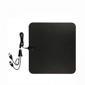 China HDTV Indoor Amplified TV Antenna 50 to 70 Miles Range with Detachable Amplifier Signal Booster and 16 Feet Coaxial Cable on sale