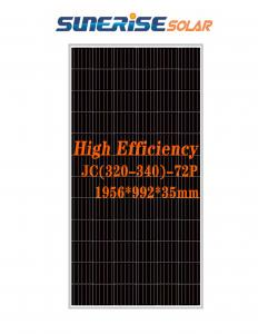 China Blue 1956*992*35mm 72PCS 46.9V 335W Poly Solar Panel on sale