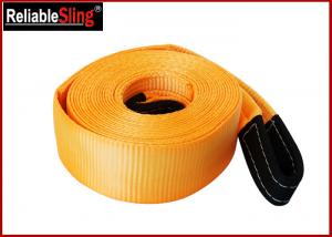 Quality OEM Multi Color 3 Inch Polyester Heavy Duty Tow Straps Load Capacity 30000 lbs for sale