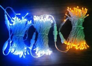 China Outdoor LED Xmas String Lights 30M Electrical Blue / Pink / White Decoration on sale