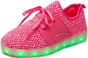 China Toddler Light Up Shoes Rechargeable Battery , Night Glowing Led Light Sneakers on sale