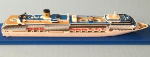 China Plastic Ship 3d Model Costa Mediterranea Cruise Ship Model With Collection Values on sale