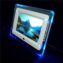 China 7 Rocking White Digital Picture Frame, Commercial Electronic Pictures Frames on sale