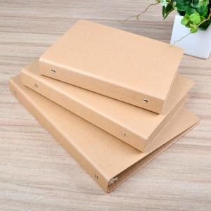 China Craft paper file folder with ring binded A6,A5,A4 size available on sale