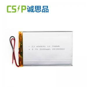 China 3.7 Volt Lithium Polymer Battery , Lithium Polymer Li Poly Batteries 456091 on sale