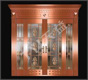 China mother and son double copper doors on sale