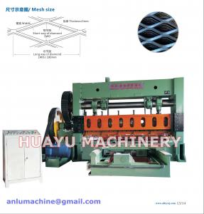 China Heavy-duty Expanded Metal Mesh Machine for Basketry Mesh Making on sale