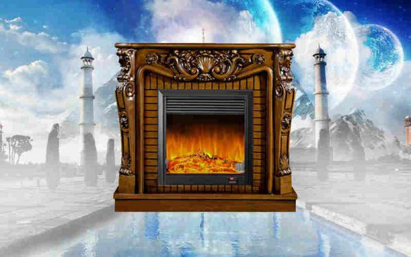 Vintage Free Standing Fireplace