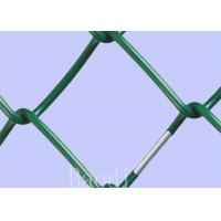 PVC Coated Chain Link Fence Fabric ScreenWith Round Post / Firm Structure