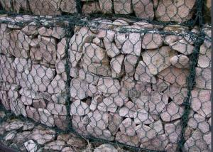 China PVC Coated Gabion Wire Mesh Panels Hexagonal Hole For Highwall Protection on sale