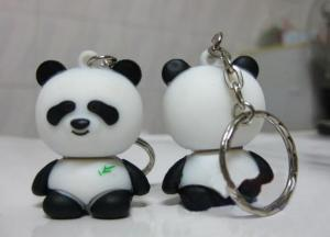 China High Speed Cute Panda Shape Plastic USB Drive With Key Chain on sale