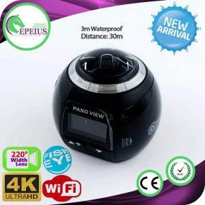 1440p 60fps Wifi Action VR 360 Camera With Fish Eye Len