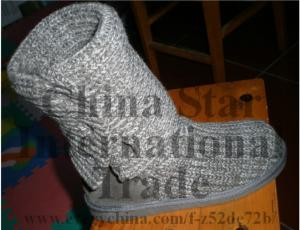 China fashional lady flat winter boots warm and comfortable on sale