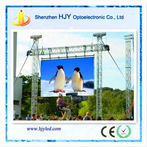 China High definition p10 outdoor rgb led tv display panel on sale