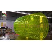 2.4m Dia Inflatable Water Rolling Toy For Kids Yellow PVC Inflatable Water Roller
