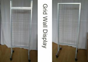 Quality OEM Wire Metal Grid Display Rack / Supmarket Two Sides Iron Display Stand for sale