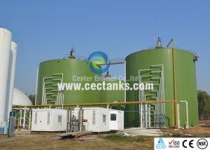China 6.0Mohs Wastewater Treatment Digester , Glass Fused To Steel Wastewater Storage Tank on sale